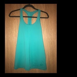 NIKE green cotton tank top